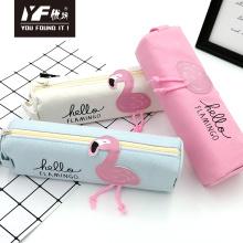Flamingo style cute canvas  pencil case