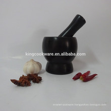marble/granite black mortar & pestle with factory price