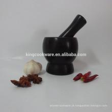 mármore / granito preto almofariz & pilão com preço de fábrica