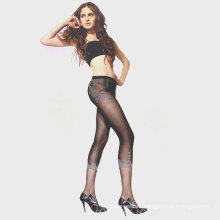 Women custom print with floral pattern sexy stockings sheer silk pantyhose