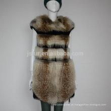 Casacos de peles de colete de inverno para mulheres a partir de China