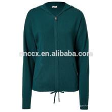 Camisola do hoodie da caxemira do bolso do canguru 15STC6807