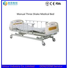 Manuel des meubles de l'hôpital Prix de lit médical à trois fonctions