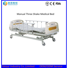 Hospital Furniture Manual Three Function Medical Bed Price