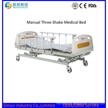 High Quality Manual Three Crank Medical Beds