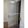 Аттестованный CE шарнир качания белый интерьер двойная деревянная дверь