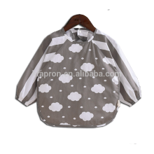 printed cartoon long sleeve apron child kids
