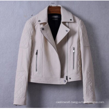 New Design Hot Sales Women′s Genuine Leather Jacket