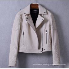 Подлинная новый дизайн горячая Продажа Женская кожаная куртка