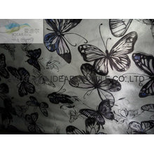 Butterfly Printed Satin For Scarves