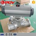 El reborde eléctrico neumático conecta el tipo Y 3 vías 120 grados válvula de bola de 135 grados