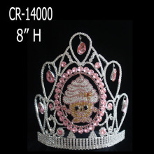 "8"" Custom Rhinestone Shopkins Pageant Crowns For Sale"