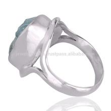 Bester Großhandelspreis Aquamarine Edelstein 925 Sterlingsilber-Ring-Schmucksachen