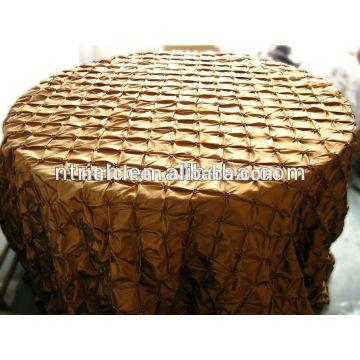 nappes de mariée pas cher, pincé de pinwheel taffeta tissu de table pour les mariages
