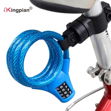 Bloqueo de cable de código de combinación reajustable para bicicleta