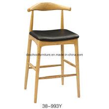 Chaise haute en bois massif pour bar