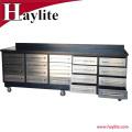 Banco de trabajo de alta calidad de la caja de herramientas del rodillo del acero inoxidable de la alta calidad 10ft para el uso del garage
