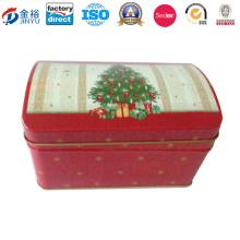 Rectángulo de Navidad de diseño de ahorro de dinero caja de hojalata