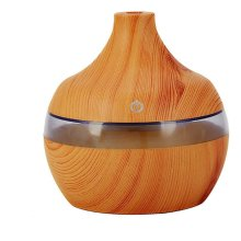 300ml Ultrasonic Cool Mist Humidifier Wood Grain Design