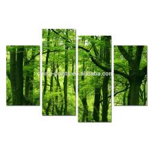 Impressão da lona da floresta do verão / arte da cópia da imagem da paisagem / arte moderna da parede