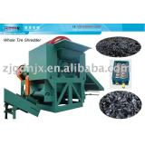 Twin shaft shredder for scrap waste tire shredding