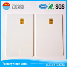 Cartão impresso do presente de PVC do presente plástico vazio do contato de IC