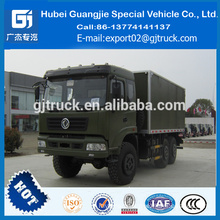 DongFeng army truck all-wheel drive van box truck,6x6 dry van delivery truck 10-15tons