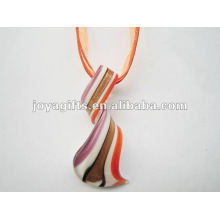 wholesale new arrival Lampwork Glass Pendant Necklace Lampwork glass Necklace italian murano glass pendant with wax cord