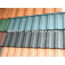 machine de tuile de toit en métal enduit de pierre