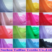 The Cheapest Various 100% Polyester Plain for Dyed Chiffon Fabric