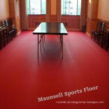 Ittf-Zertifikat-hohe Qualität preiswerter Innen-PVC-Sport-Rollenboden / Matte für Stärke des Tischtennis-4.5mm