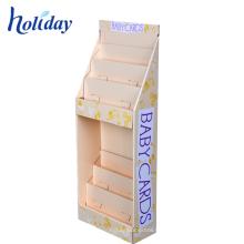 Soporte de exhibición acanalado blanco de la cartulina del precio de fábrica para las tarjetas de felicitación
