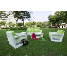 Juego de sofá de mimbre de diseño moderno para patio