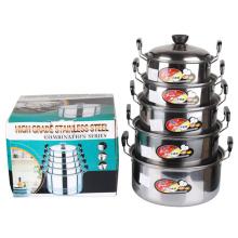 Estilo americano de aço inoxidável Cooking Ware Set