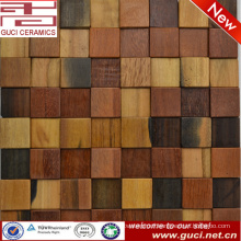 300x300 foshan house wall decoration old boat wood mosaic tile