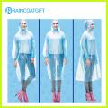 Unisex Free Size Disposable Clear PE Rain Ponchos