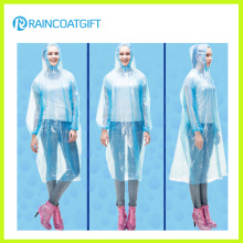 Unisex Free Size Disposable Clear PE Rain Ponchos