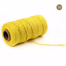 Factory custom high quality 2mm macrame cotton cord rope single twist