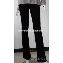 Pantalons de cachemire tricotés de qualité de vente d'usine de qualité