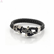 Wholesale Custom High Quality Colorful Leather Strap Bracelet