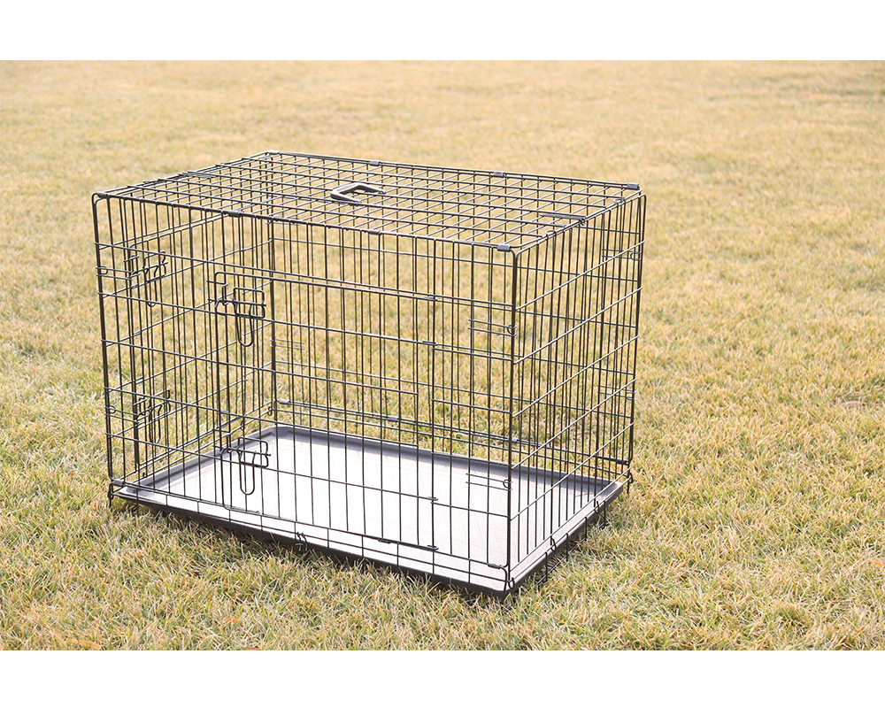 Double Door Dog Cage