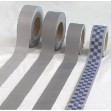 reflective polyester tape sewed on reflective fabric tape for safety clothes