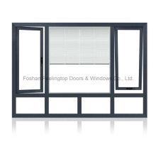 Fenêtre tournante basculante en aluminium à battants à prix concurrentiel (FT-W135)