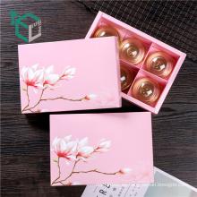caja de regalo de cartulina caja de baratija macaron de lujo con cajón