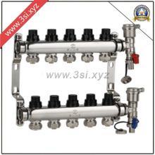 Hot Sale 5-Wege-Fußbodenheizungs-Wassersegregator mit Messgerät (YZF-M809)