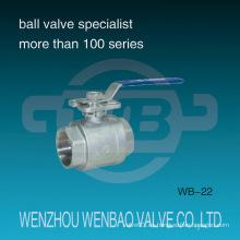 Válvula de bola de dos piezas de acero inoxidable con almohadilla de montaje ISO5211