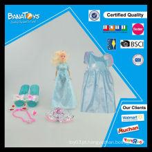 Brinquedos bonitos para o vestido da menina das crianças da noiva da forma da menina