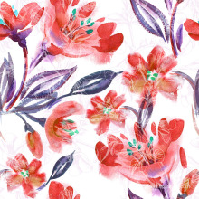 Orange Flower Printing Fabric for Swimwear (ASQ083)