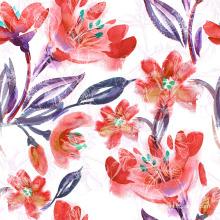 Tecido de impressão flor laranja para swimwear (asq083)