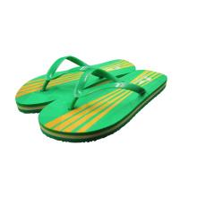 Pantoufles de plage d'été de couleur verte de PVC bon marché